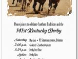 Horse Racing Birthday Invitations Round the Curve Kentucky Derby Party Invitations Horse