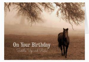 Horse Themed Birthday Cards Funny Card Western