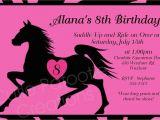 Horse themed Birthday Invitations Birthday Invitations Free Printable Horse Birthday