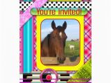 Horse themed Birthday Invitations Colorful Horse themed Kids Birthday Invitation 5 Quot X 7
