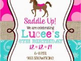Horse themed Birthday Invitations Horse Birthday Party Invitations Printable or Digital File