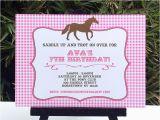 Horse themed Birthday Invitations Horse Birthday Party Printable Templates Pony Party theme