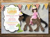 Horse themed Birthday Invitations Horse themed Birthday Party Invitations Oxsvitation Com