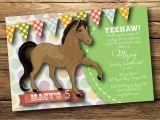 Horse themed Birthday Invitations Party Invitation Templates Horse Party Invitations