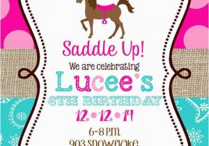 Horse themed Birthday Party Invitations 25 Best Ideas About Cowgirl Birthday Invitations On
