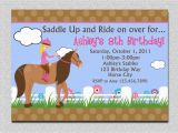 Horse themed Birthday Party Invitations Birthday Invitations Free Printable Horse Birthday