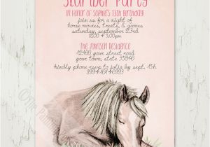 Horse themed Birthday Party Invitations Equestrian Party Invitations for Spring Horses Heels