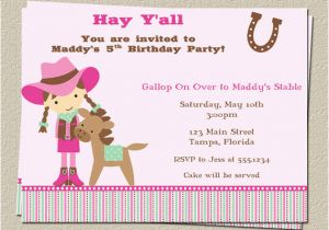 Horse themed Birthday Party Invitations Free Printable Horse Birthday Party Invitations Free