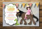 Horse themed Birthday Party Invitations Horse themed Birthday Party Invitations Oxsvitation Com