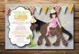 Horse themed Birthday Party Invitations Horse themed Birthday Party Invitations Oxsvitation Com