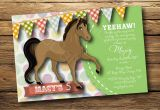 Horse themed Birthday Party Invitations Party Invitation Templates Horse Party Invitations