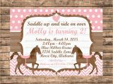 Horse themed Birthday Party Invitations Personalized Pink and Brown Horse themed Birthday Party