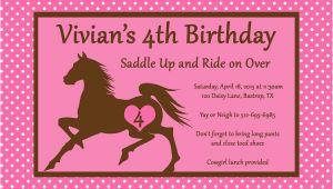 Horseback Riding Birthday Party Invitations Horseback Riding Birthday Invitations