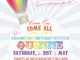 Hot Air Balloon 1st Birthday Invitations Paiges Of Style Hot Air Balloon Invitaton Available In My