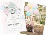 Hot Air Balloon 1st Birthday Invitations Party Reveal Hot Air Balloon Birthday Party Project Nursery