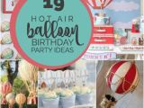 Hot Air Balloon Birthday Party Decorations 19 Hot Air Balloon Party Ideas and Decorations