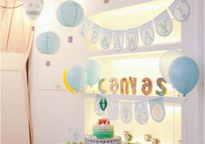 Hot Air Balloon Birthday Party Decorations Kara 39 S Party Ideas Hot Air Balloon themed Birthday Party