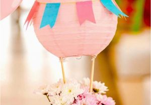 Hot Air Balloon Birthday Party Decorations Kara 39 S Party Ideas Shabby Chic Hot Air Balloon Party
