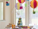 Hot Air Balloon Birthday Party Decorations Pink Rainbows and Hot Air Balloons the Woodlands Tx