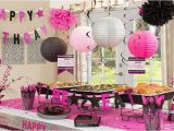 Hot Pink and Black Birthday Decorations Black Pink Birthday Party Supplies Party City