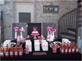 Hot Pink and Black Birthday Decorations Hot Pink and Black Birthday Party Ideas Photo 1 Of 7