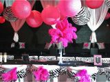 Hot Pink and Black Birthday Decorations Hot Pink and Black Party Decoration Ideas Psoriasisguru Com