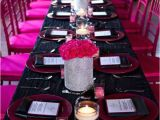 Hot Pink and Black Birthday Decorations Hot Pink Black White and Sparkles Birthday Party Ideas