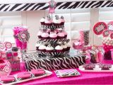 Hot Pink and Black Birthday Decorations Hot Pink Party Decorating Ideas Billingsblessingbags org