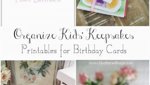 How Much are Birthday Cards organizing Kids 39 Keepsakes Birthday Cards Free