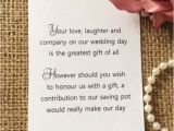 How to ask for Gift Cards On A Birthday Invitation 25 Best Ideas About Wedding Gift Poem On Pinterest