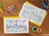 How to Create Birthday Card with Photo Dad Grandpa Printable Coloring Birthday Cards