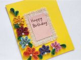 How to Create Birthday Card with Photo How to Create A Simple Quilled Birthday Card Diy Crafts