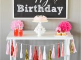 How to Decorate Birthday Party Table Free Happy Birthday Backdrop I Heart Nap Time