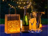 How to Decorate for A 50th Birthday Party 50th Birthday Party Decoration Lantern Bag by Baloolah