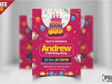 How to Design A Birthday Invitation Card Birthday Invitation Card Design Free Psd Psd Zone