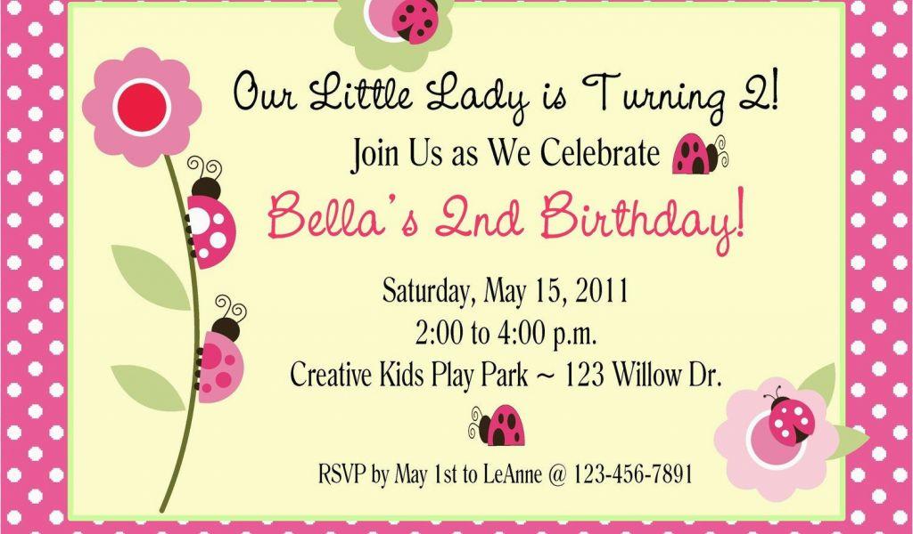 How To Design A Birthday Invitation Card Items Similar Ladybug