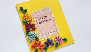 How to Do Birthday Card How to Create A Simple Quilled Birthday Card Diy Crafts