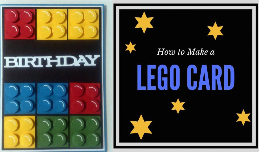 How To Do Birthday Card Make A Lego Youtube