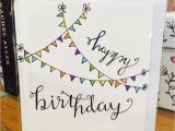 How to Draw A Birthday Card Happy Birthday Card Flag Cute White Design Handmade Drawn
