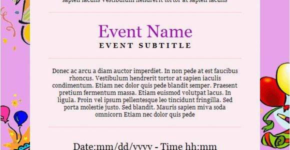 How To Invite Birthday Party Invitation Email Template 27 Free Psd Eps Format