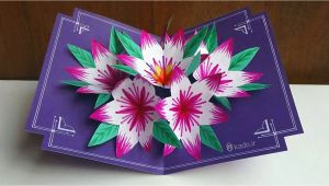 How to Make A 3d Birthday Card Out Of Paper How to Make 3d Flower Pop Up Card Art Craft Ideas