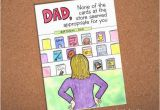 How to Make A Birthday Card for Dad Dad Birthday Card Funny Card for Dad Hand Drawn Card for
