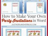 How to Make A Birthday Card On Word How to Make Your Own Party Invitations Just A Girl and