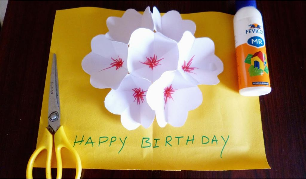 How To Make A Birthday Card Out Of Paper 3d Flower Pop Up Greeting