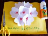 How to Make A Birthday Card Out Of Paper 3d Flower Pop Up Greeting Card Making Paper Art Youtube