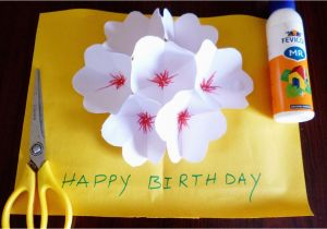How To Make A Birthday Card Out Of Paper 3d Flower Pop Up Greeting Making