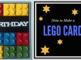 How to Make A Birthday Card with Photo How to Make A Lego Birthday Card Youtube