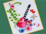 How to Make A Birthday Card with Photo How to Make Quilling Beautiful Guitar Birthday Greeting