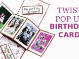 How to Make A Birthday Card with Photo Unique Twist Pop Up Card Diy Birthday Greeting Card