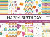 How to Make A Digital Birthday Card Birthday Digital Paper Pack Quot Happy Birthday Quot with